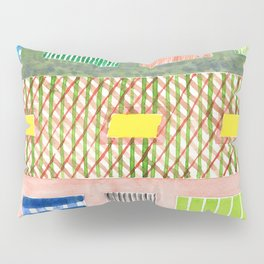 Friendly Pattern Mix On Pink Pillow Sham
