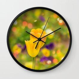 Valentine tulips Wall Clock