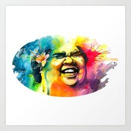 Bruddah IZ Art Print