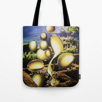oil Tote Bags featuring Oil by John Turck