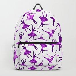 Watercolor Ballerinas (Purple) Backpack