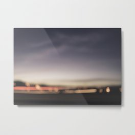 Hazy Night Lights Metal Print