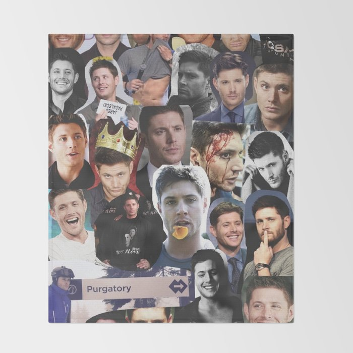 Jensen Ackles Collage Throw Blanket