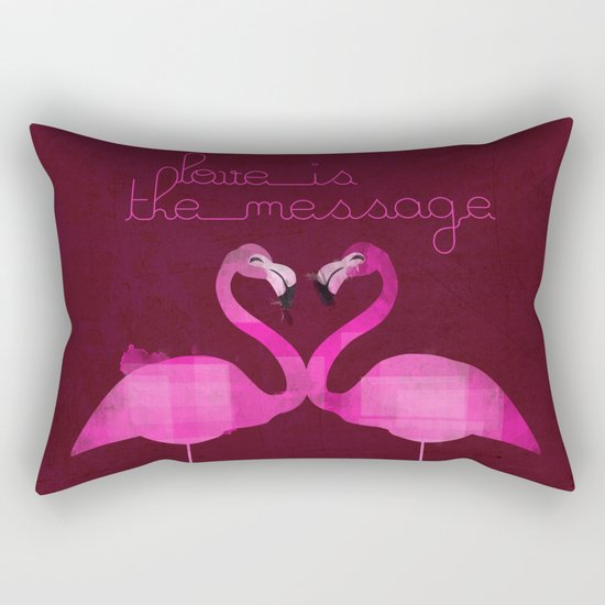 Love is the message Rectangular Pillow