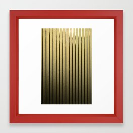 Goldenen Linien Framed Art Print