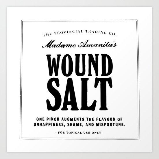 Wound Salt Art Print