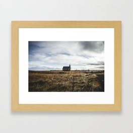 The Black Church.    Búðakirkja.    Travel Iceland.    MadaraTravels Framed Art Print