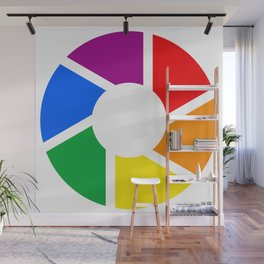 Gay Pride Flag Circle Wall Mural