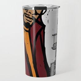 Black man on street Travel Mug