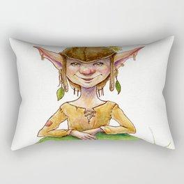Gnome and Dragon Rectangular Pillow