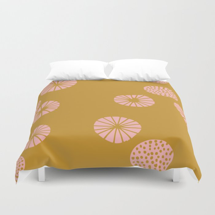 Dandelion flying mustard Duvet Cover