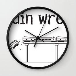 train wreck Wall Clock