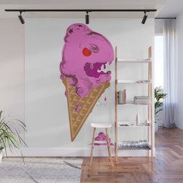 Angry Ice Cream Cone Wall Mural