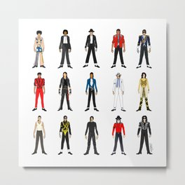 Outfits of King MJ Pop Music Metal Print