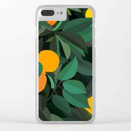 oranges Clear iPhone Case