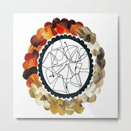Braided Flower Print  Metal Print