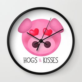 Hogs & Kisses Wall Clock