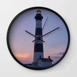 Bodie Island Lighthouse Bathroom Decor Wall Clock