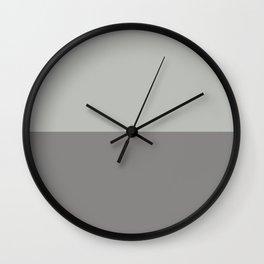 Horizontal Stripes Gray Solid Colors Pairs to  Metropolitan AF-690 & Cinder Dark Gray Af-705 Wall Clock