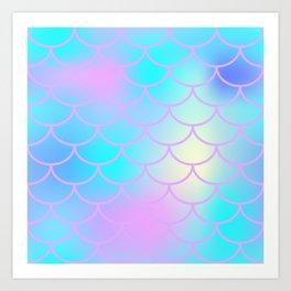 Turquoise Purple Mermaid Art Print
