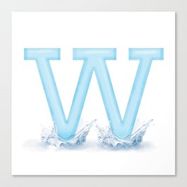 W is for Water Canvas Print