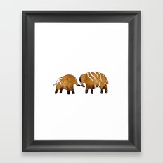 Gingerbread elephants Framed Art Print