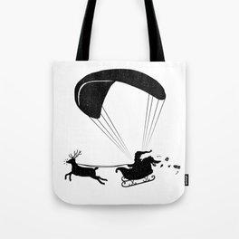 Happy Holidays - Paragliding Santa - Textless Tote Bag