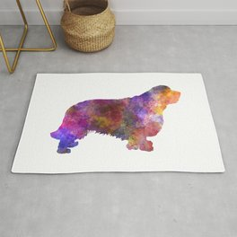 Clumber spaniel dog in watercolor Rug