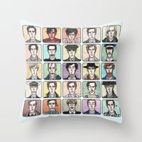 actor Throw Pillows featuring Benedict the Actor by enerjax