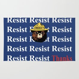 "Smokey says, ""Resist"" Rug"