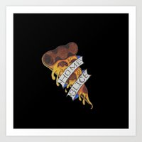 A Slice of Home: The Normal Pizza Art Print