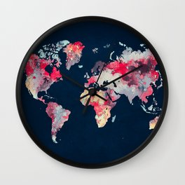 world map 69 Wall Clock