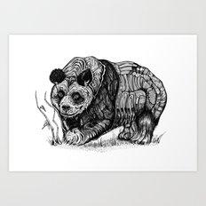 Panda Love Art Print