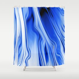Streaming Blues Shower Curtain