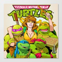 tmnt Canvas Prints featuring TMNT by Kyle Harlan