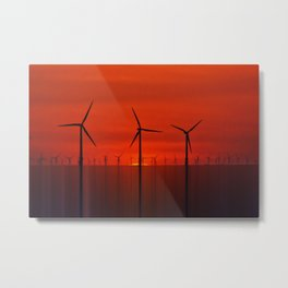 Wind Farms (Digital Art) Metal Print