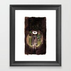 Slender Sloth Framed Art Print