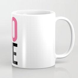 LOVE Block Quote Pink and Black Coffee Mug