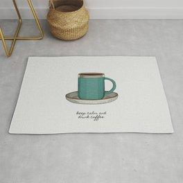 Keep Calm & Drink Coffee, Coffee Quote, Kitchen, Mug Rug