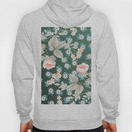 Green Flowers Pattern Hoody