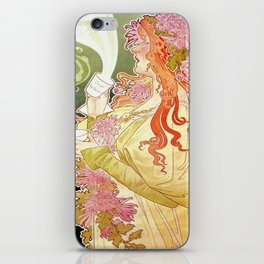 Vintage Alphonse Mucha - Hot Cocoa Advertisement iPhone Skin