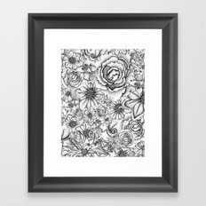 B&W Flowers  Framed Art Print