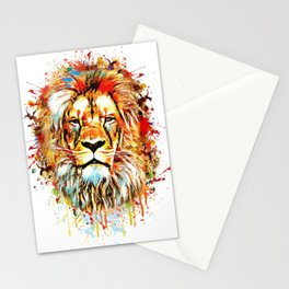 lion face abstract illustration Stationery Cards