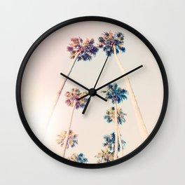 Vintage Pastel Palm trees Wall Clock