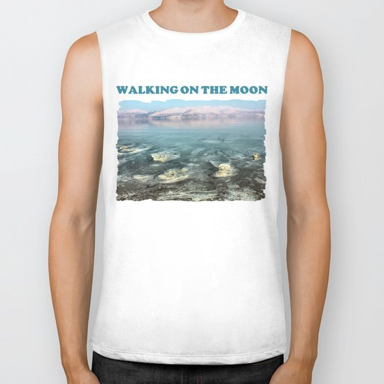 Walking on the moon Biker Tank