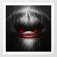 evil Art Prints featuring EVIL by Dr. Lukas Brezak