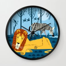 Whilst The Lion Sleeps Wall Clock