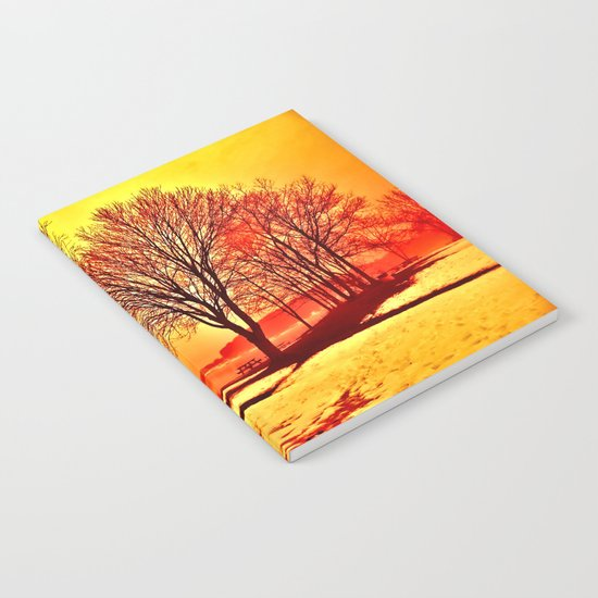 Autumn Lake Notebook