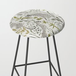Grey Cheetahs Bar Stool
