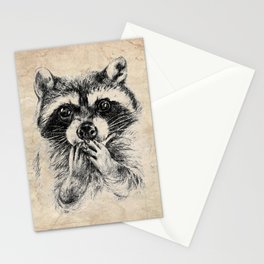 Surprised raccoon Stationery Cards